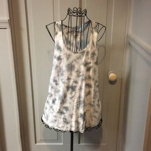 Mossimo Grey Tie Dye Tank Top